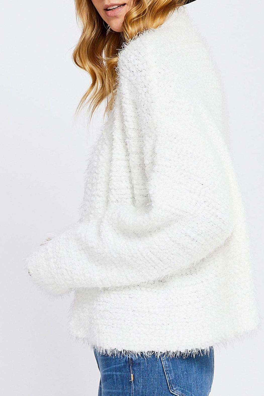 952d1e3a3520 Gentle Fawn Fuzzy White Cardigan from Ontario by Steel Style Garage ...