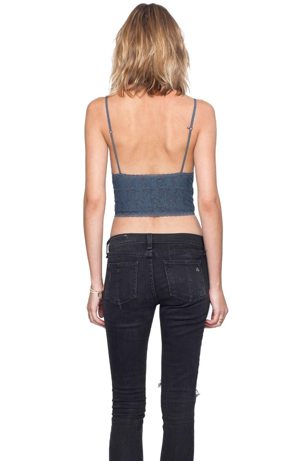 Gentle Fawn Gray Pulse Bralette - Back Cropped Image