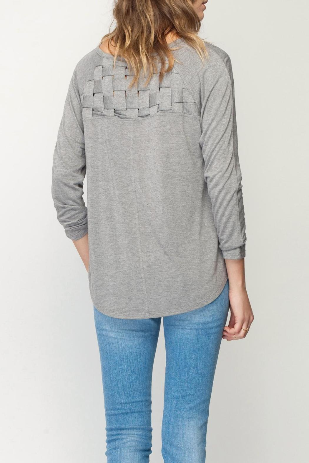 Gentle Fawn Heathered Felicity Top - Back Cropped Image