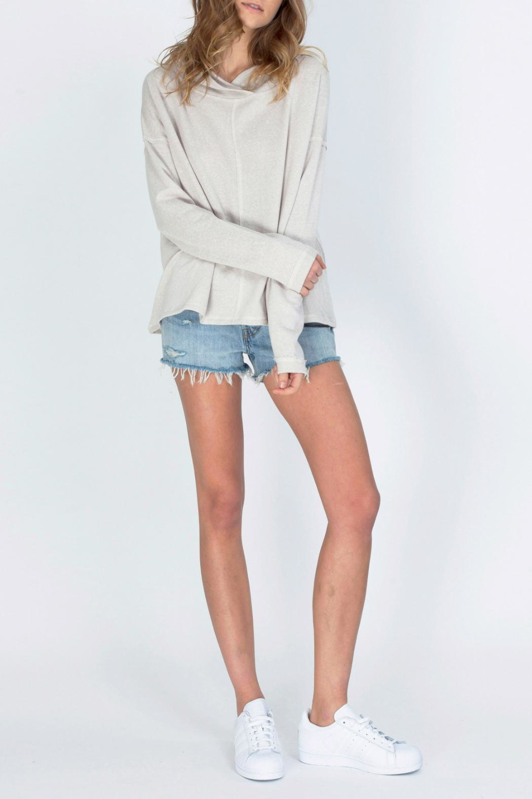 Gentle Fawn Hooded Terry Pullover - Front Full Image