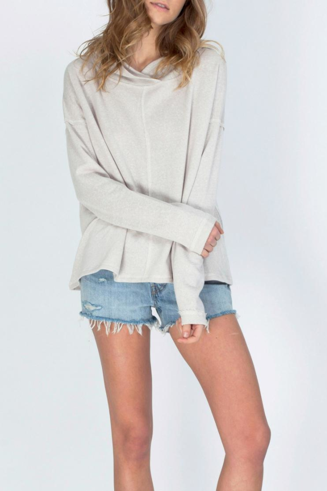 Gentle Fawn Hooded Terry Pullover - Front Cropped Image