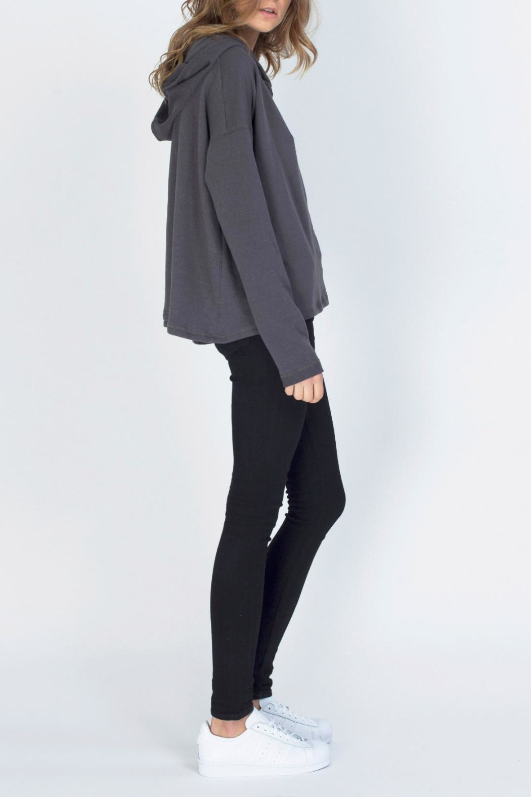 Gentle Fawn Hooded Terry Pullover - Side Cropped Image