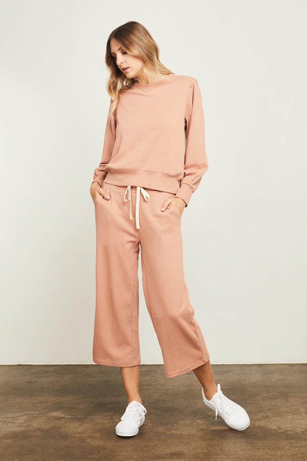 Gentle Fawn Hunter Wide Leg Cropped Pant - Side Cropped Image