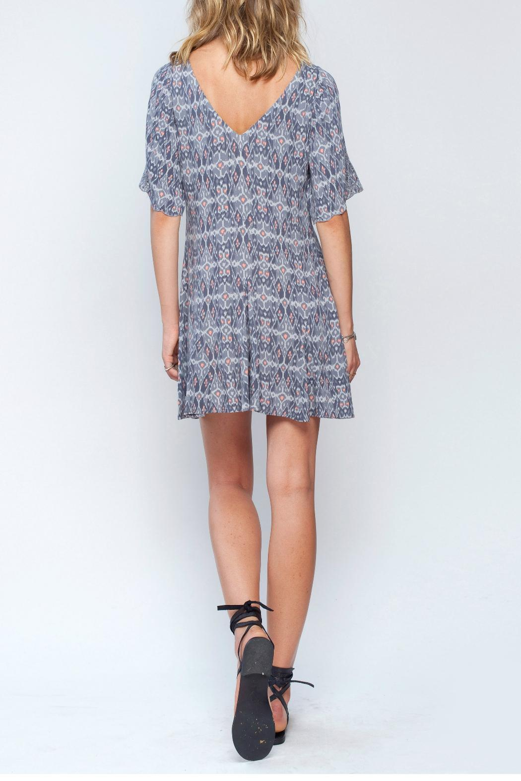 Gentle Fawn Ikat Print Dress - Back Cropped Image