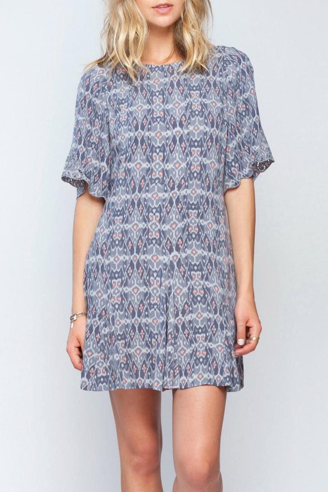 Gentle Fawn Ikat Print Dress - Front Cropped Image