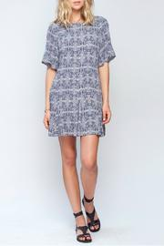 Gentle Fawn Ikat Print Dress - Front full body