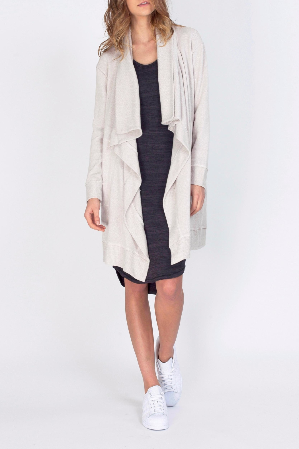 Gentle Fawn Knee Length Cardigan - Front Cropped Image