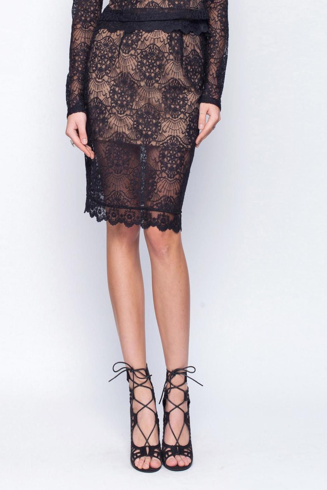 Gentle Fawn Lace Mesh Skirt - Main Image