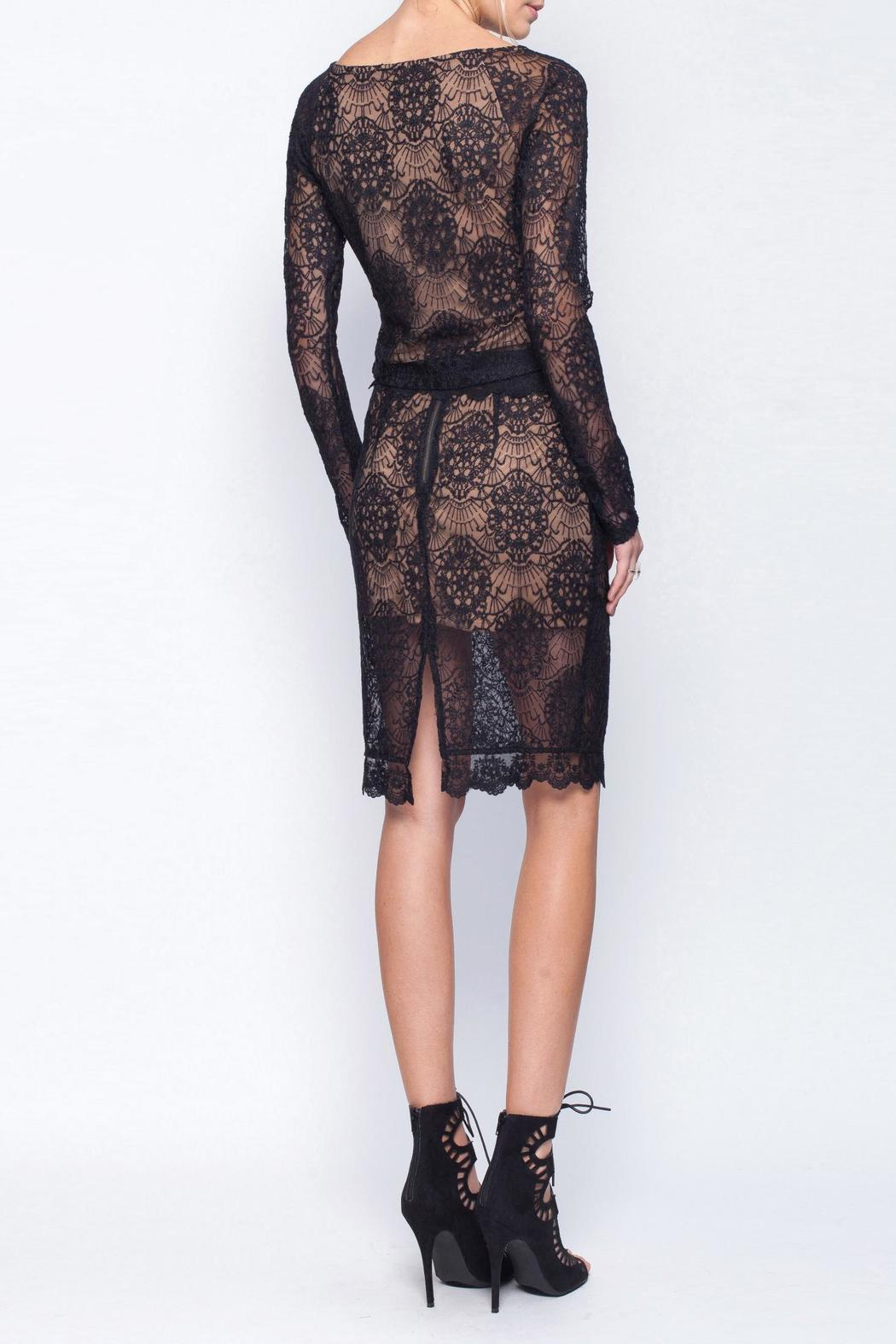Gentle Fawn Lace Mesh Skirt - Back Cropped Image