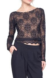Gentle Fawn Lace Mesh Top - Product Mini Image
