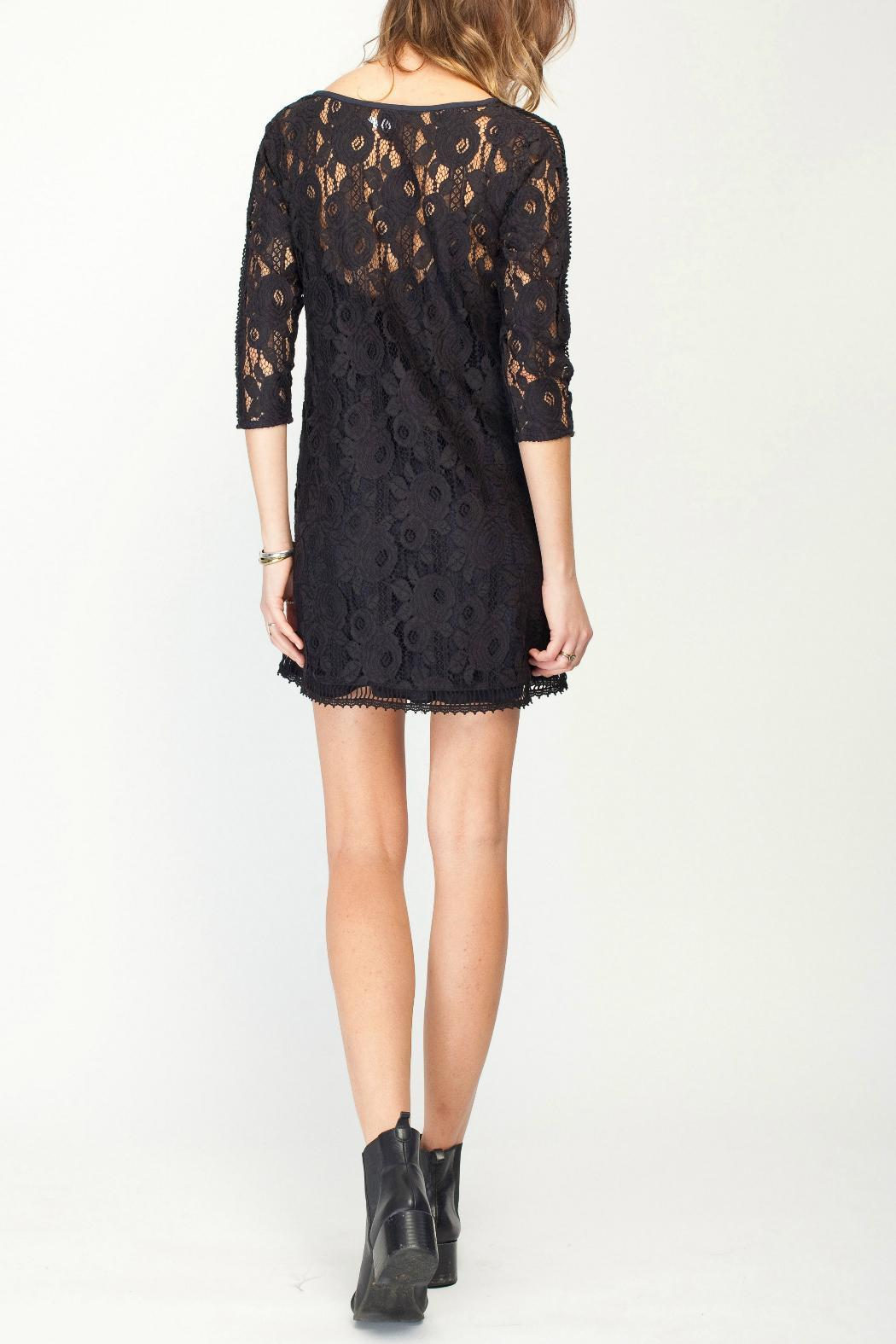 Gentle Fawn Lace Overlay Dress - Back Cropped Image