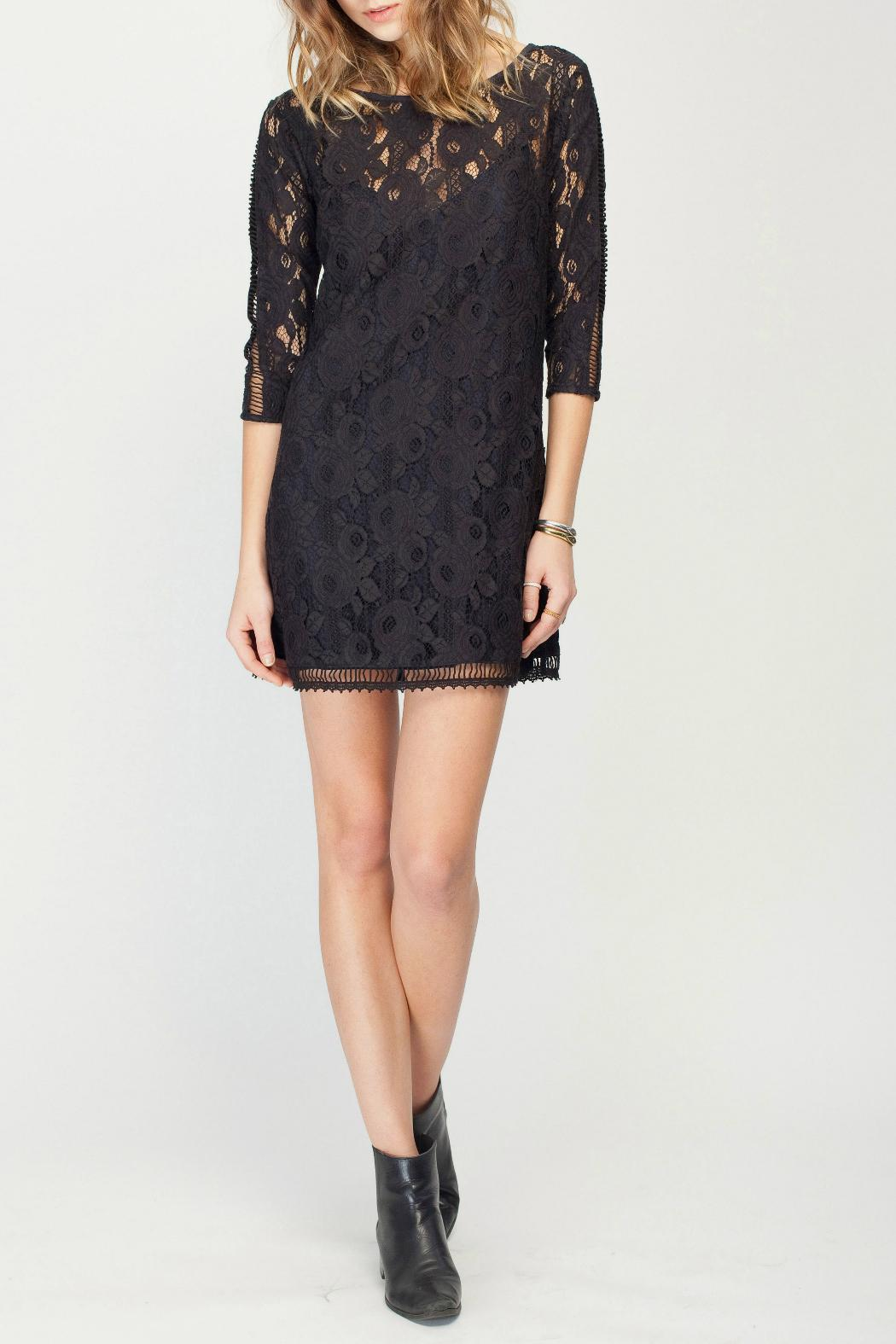 Gentle Fawn Lace Overlay Dress - Front Full Image