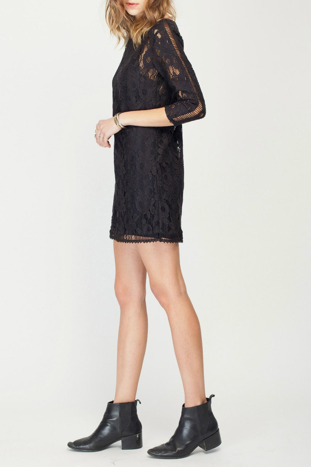 Gentle Fawn Lace Overlay Dress - Side Cropped Image