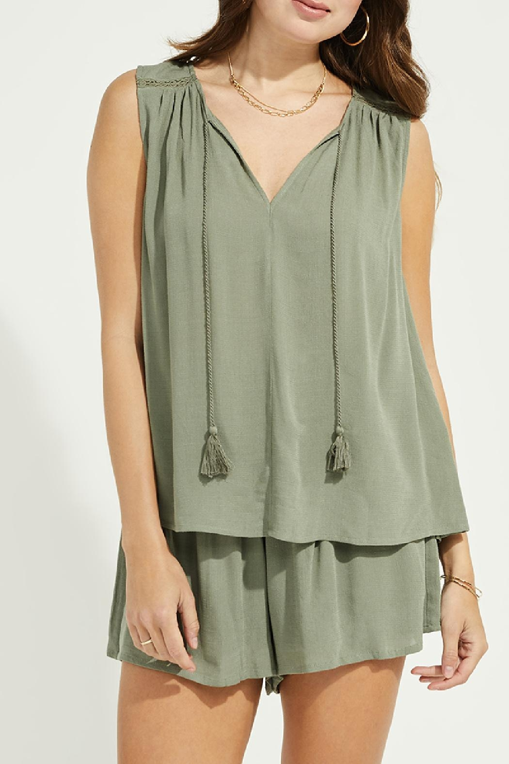 Gentle Fawn Lace Trim Tank - Main Image