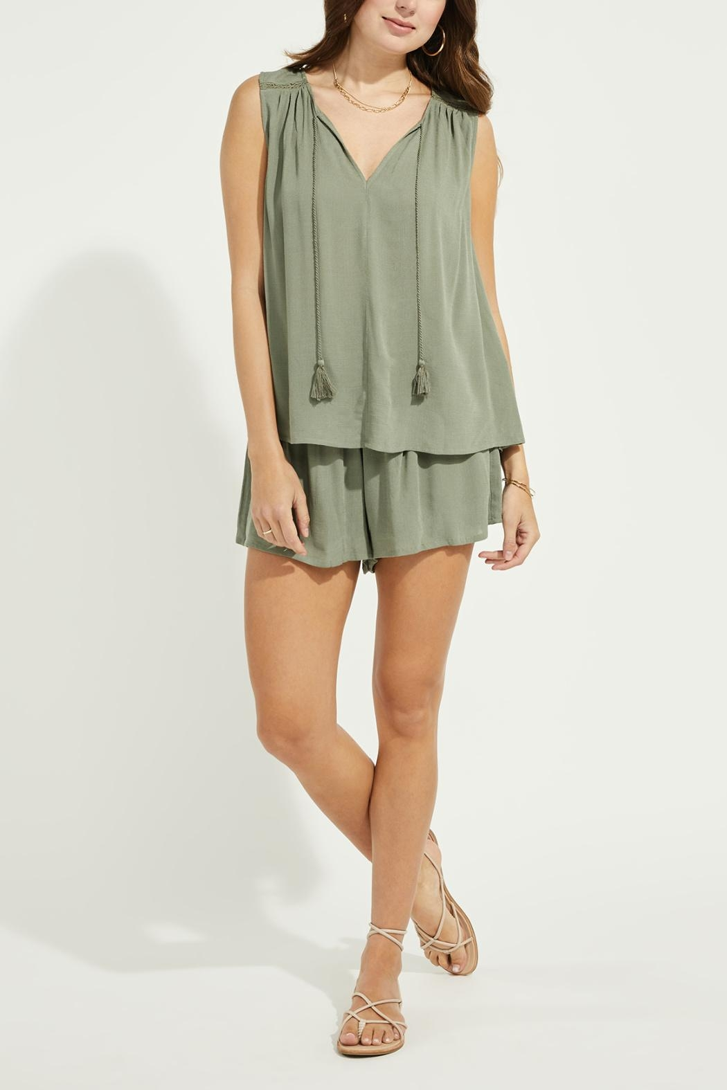 Gentle Fawn Lace Trim Tank - Front Full Image
