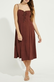 Gentle Fawn Lace Up Linen Mix Dress - Product Mini Image
