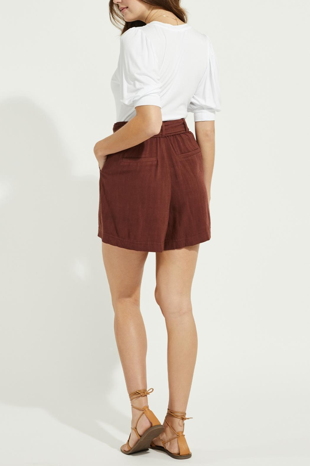 Gentle Fawn Linen Blend Shorts - Side Cropped Image