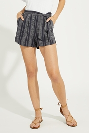 Gentle Fawn Linen Blend Striped Shorts - Product Mini Image