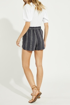 Gentle Fawn Linen Blend Striped Shorts - Alternate List Image