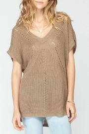 Gentle Fawn Brown Short Sleeve Sweater - Product Mini Image