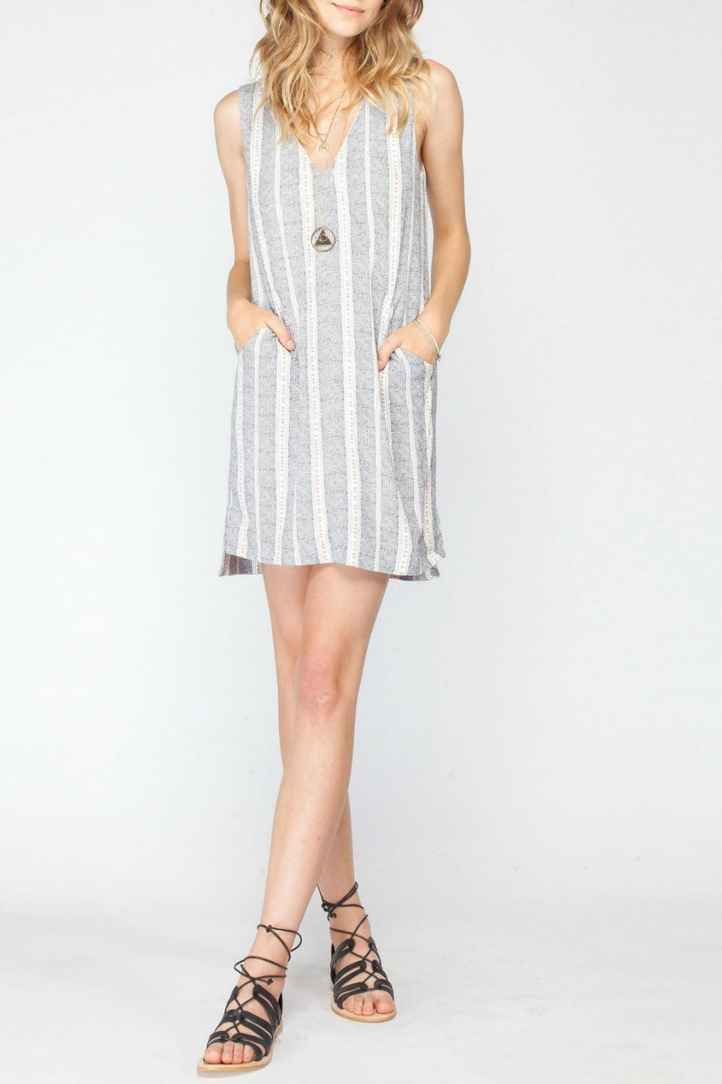 Gentle Fawn Printed Shift Dress - Front Cropped Image