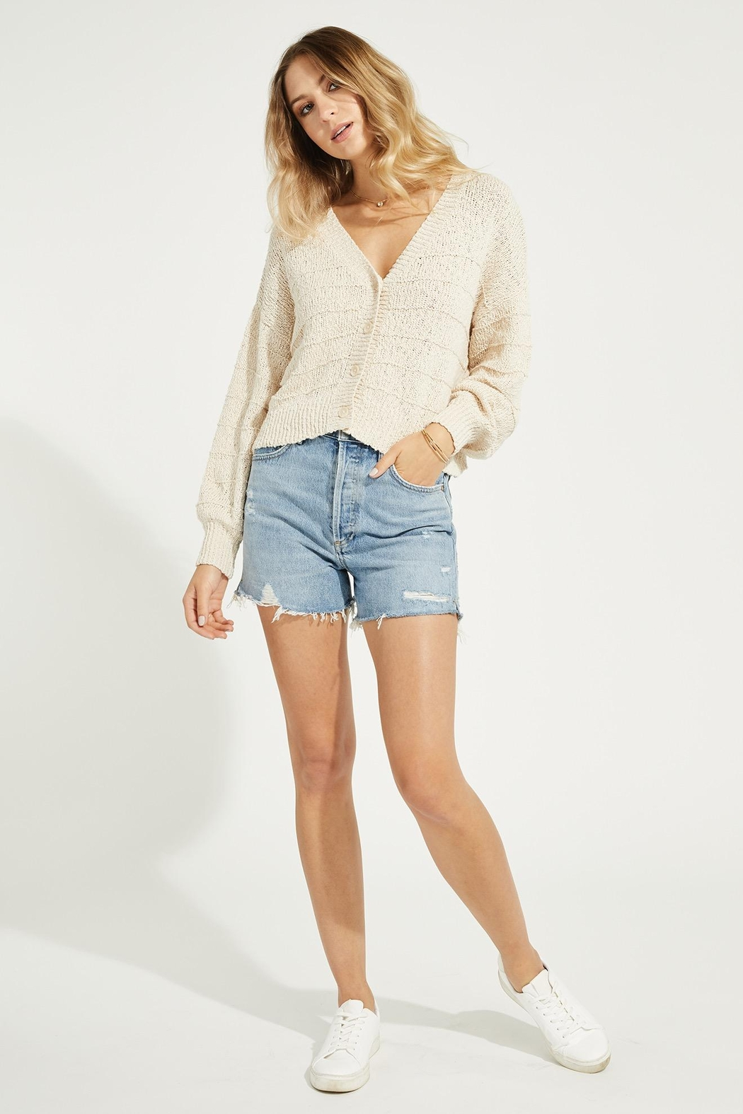 Gentle Fawn Melody Cotton Cardigan - Side Cropped Image