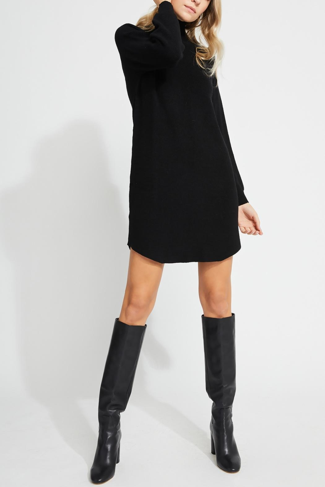 Gentle Fawn Mid-Thigh Sweater Dress - Front Full Image