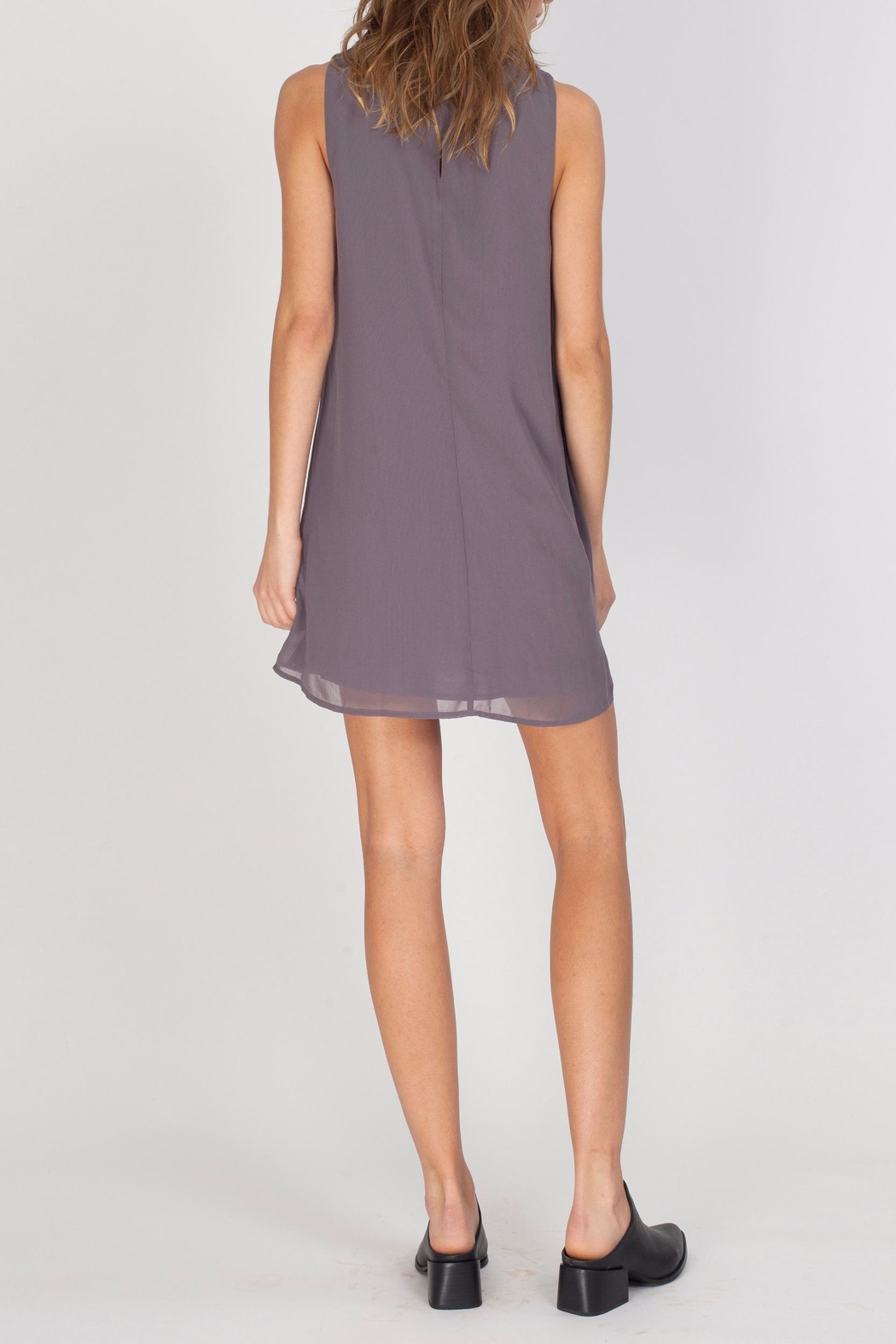 Gentle Fawn Mock Neck Dress - Back Cropped Image