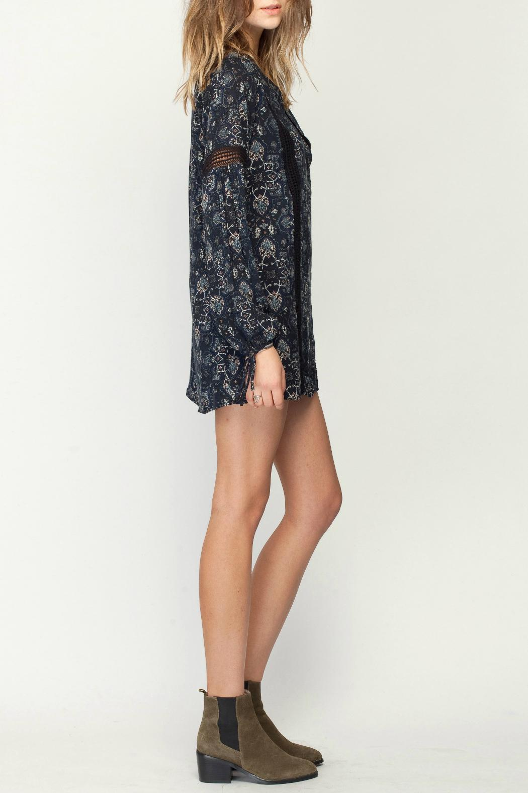 Gentle Fawn Mosaic Print Dress - Side Cropped Image