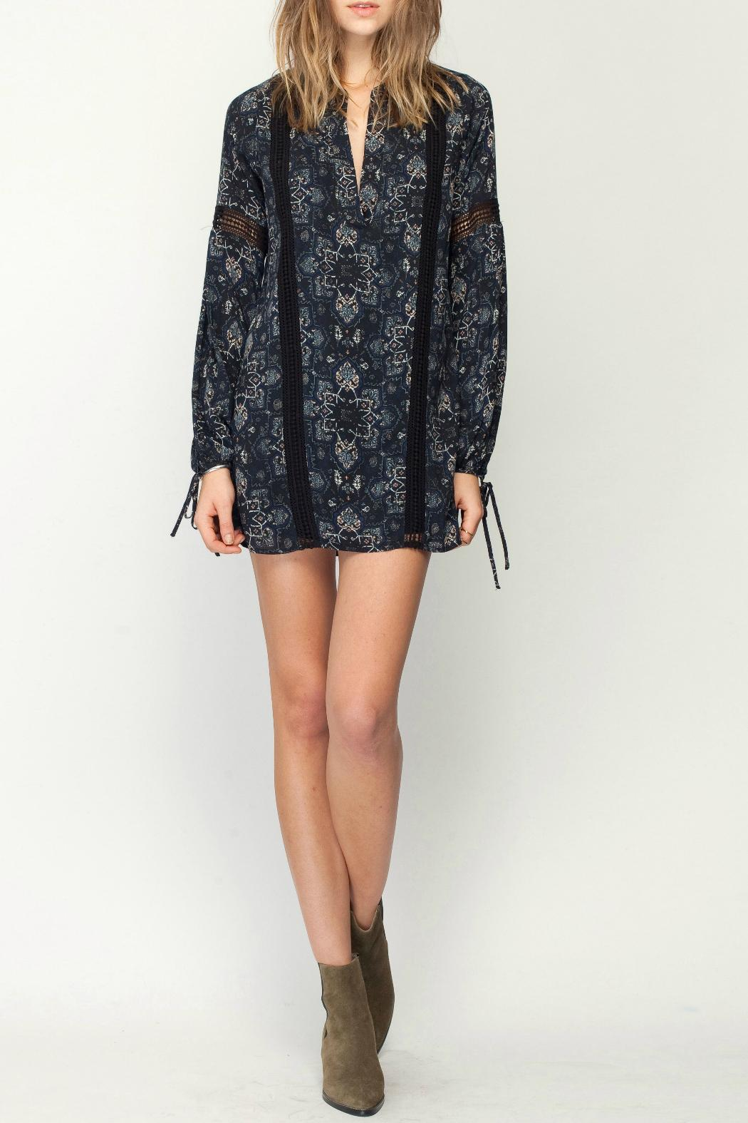 Gentle Fawn Mosaic Print Dress - Front Full Image