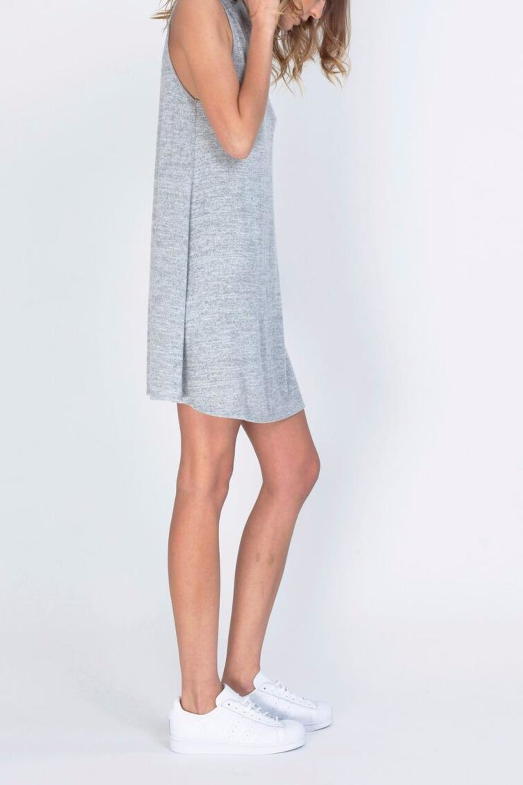 Gentle Fawn Motivated Gray Dress - Front Cropped Image