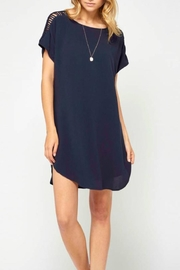 Gentle Fawn Navy Dress - Product Mini Image