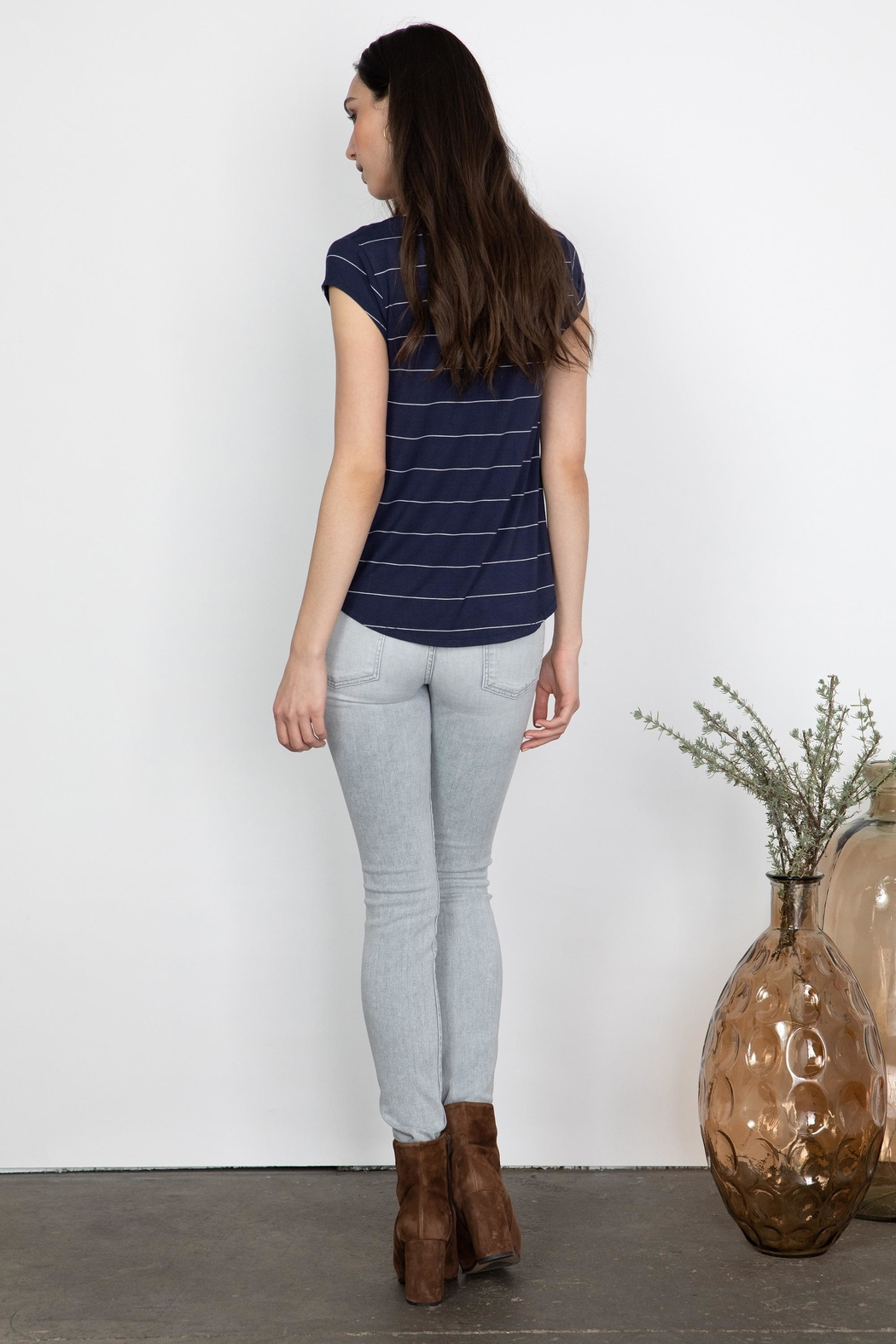 Gentle Fawn Nora V-Neck Shirt - Side Cropped Image