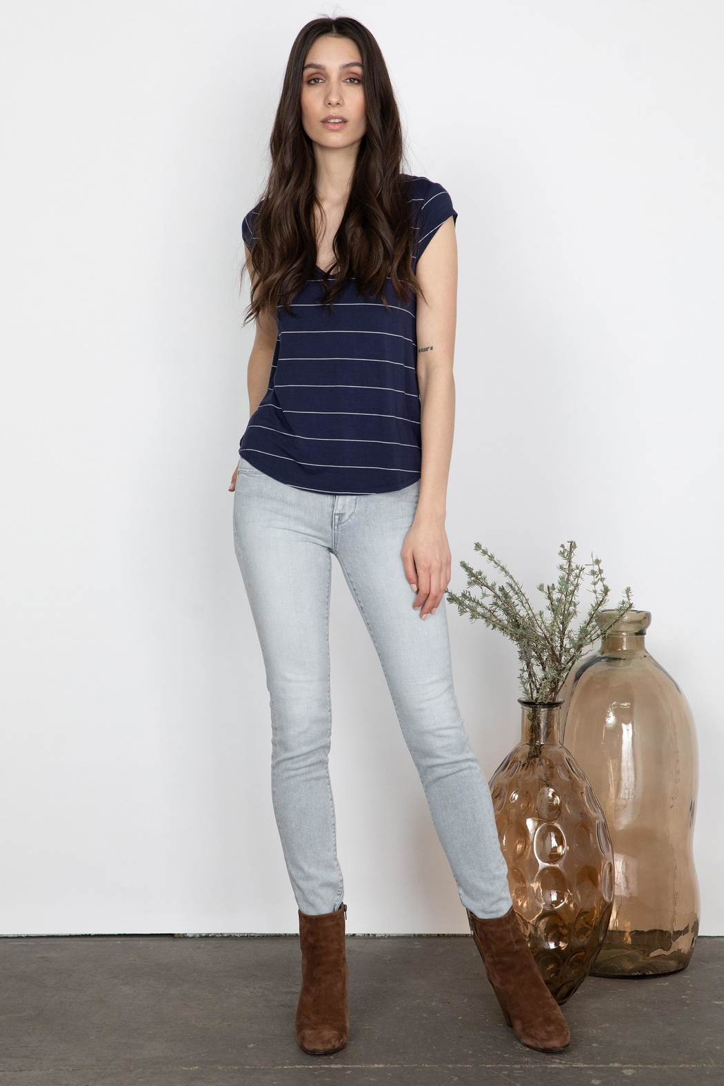 Gentle Fawn Nora V-Neck Shirt - Main Image