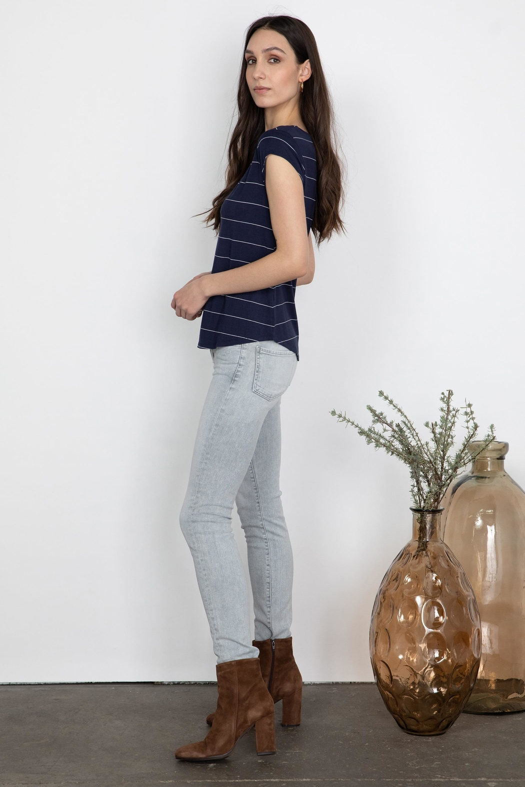 Gentle Fawn Nora V-Neck Shirt - Front Full Image