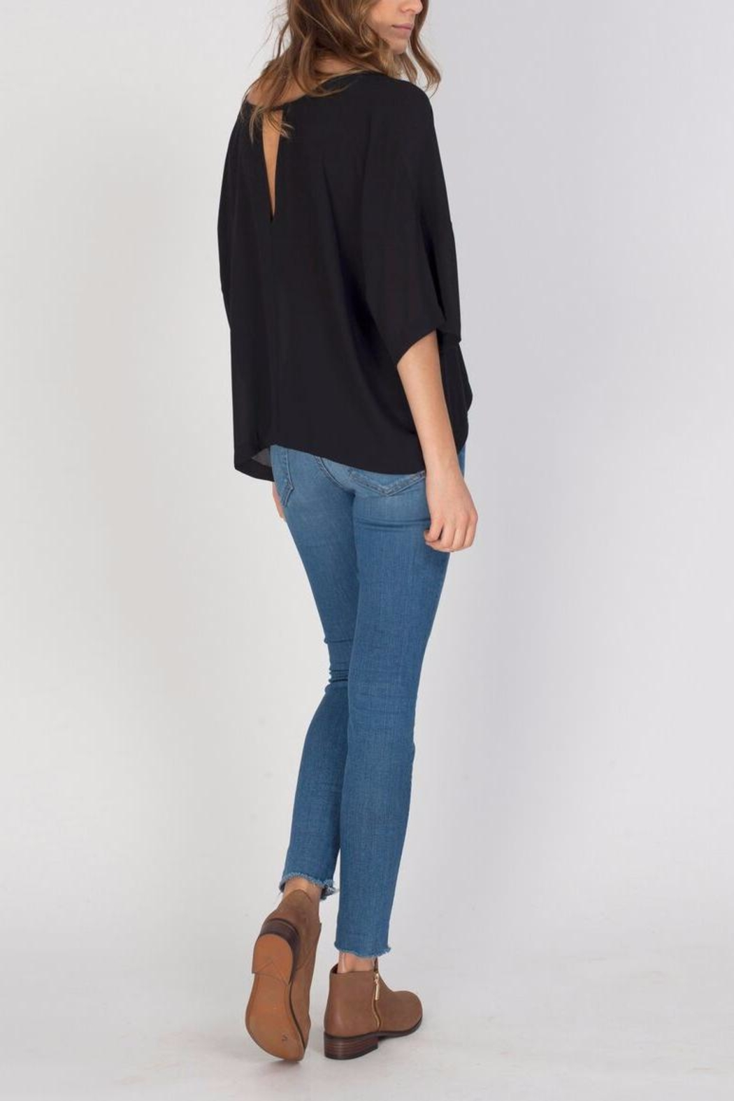 Gentle Fawn Black Andrea Top - Front Cropped Image