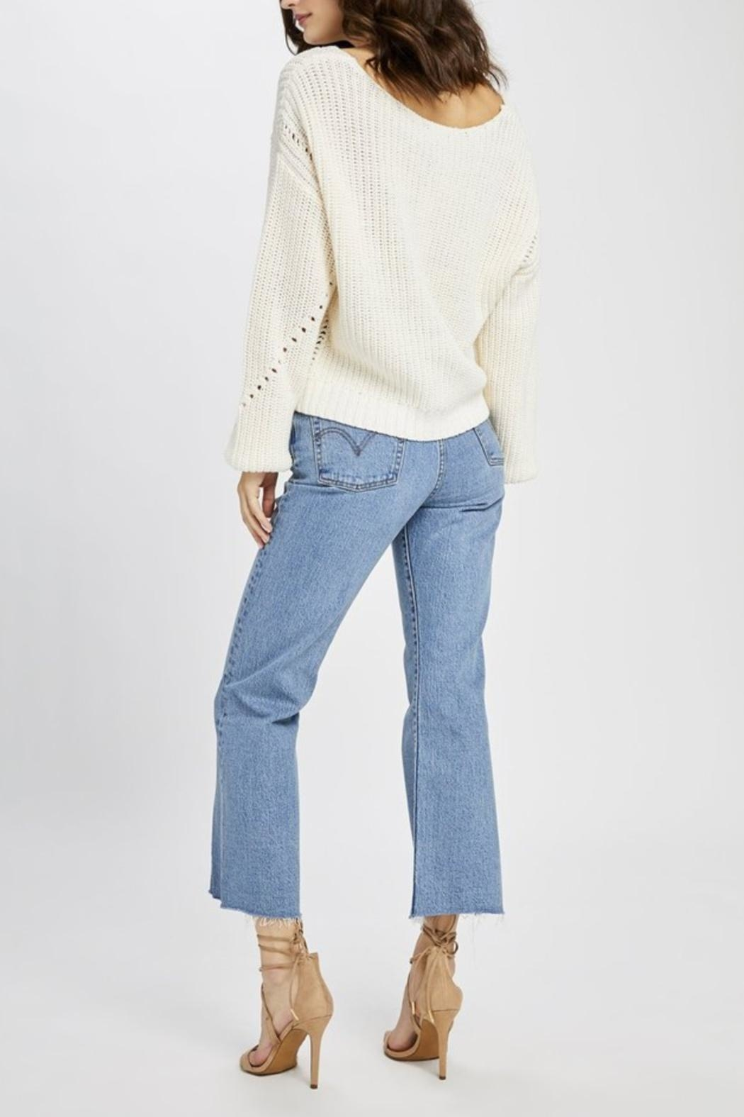 Gentle Fawn Open Weave Sweater - Back Cropped Image