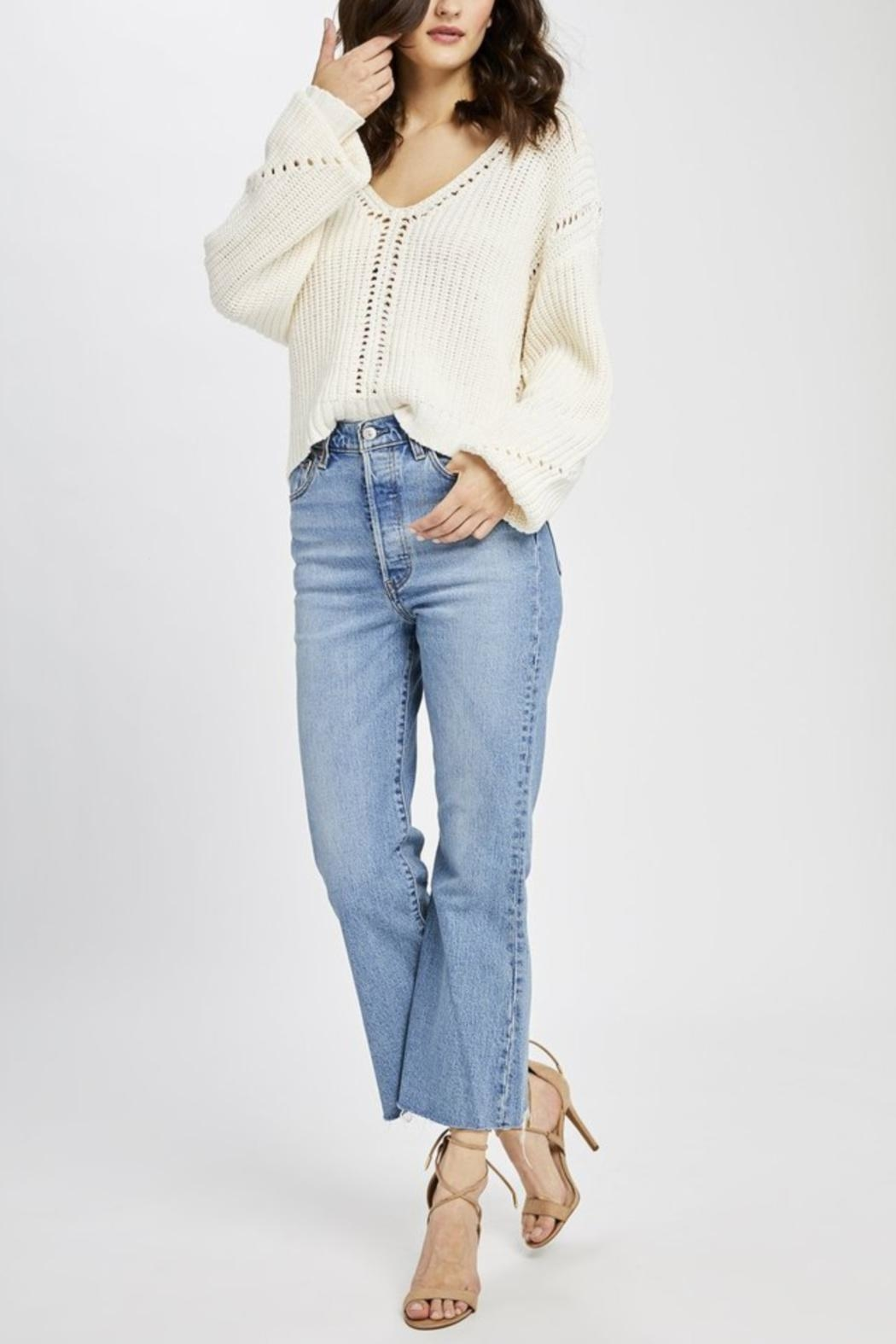 Gentle Fawn Open Weave Sweater - Front Full Image