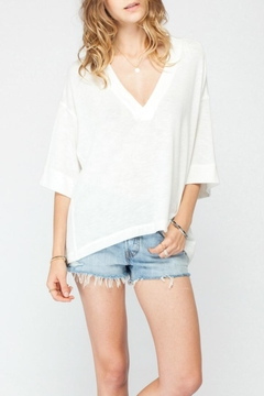 Gentle Fawn Oversized V Neck Top - Product List Image