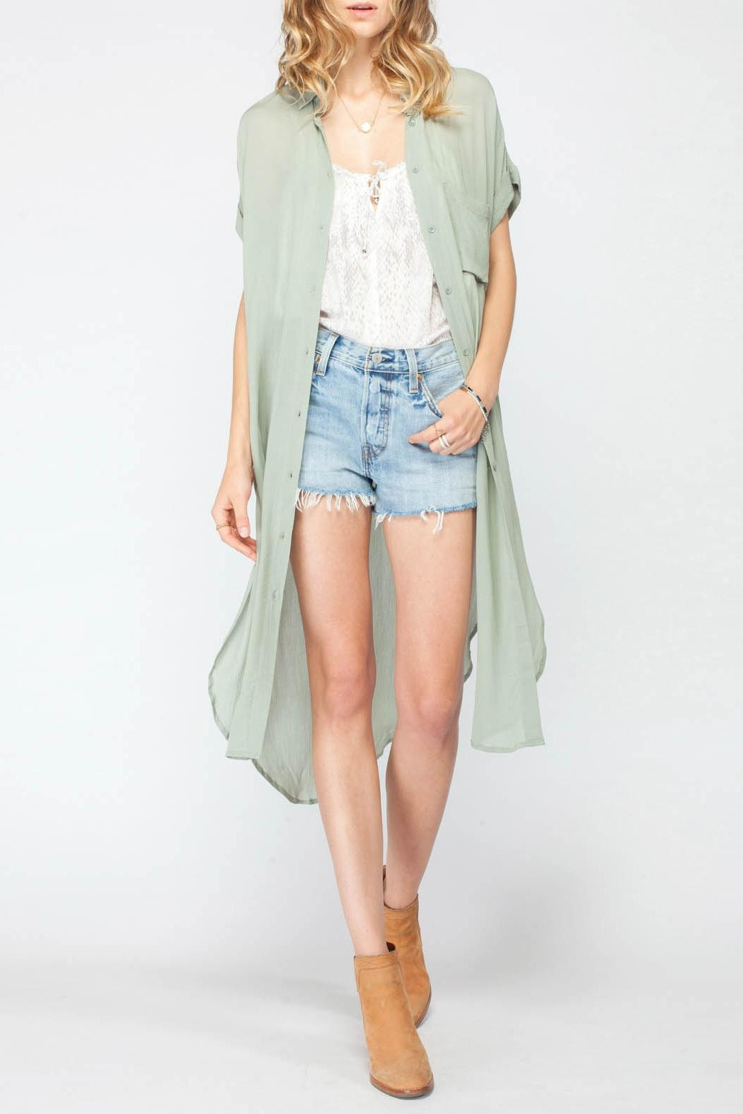 Gentle Fawn Pacifica Kimono - Front Cropped Image