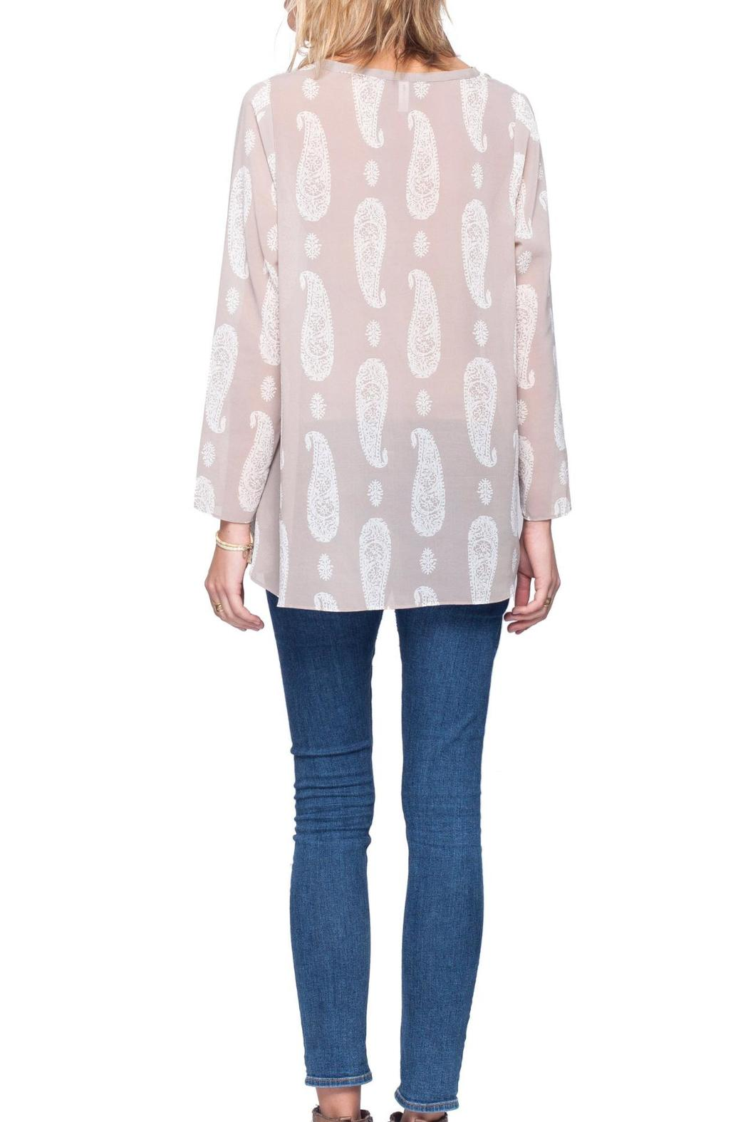 Gentle Fawn Paisley Print Top - Back Cropped Image