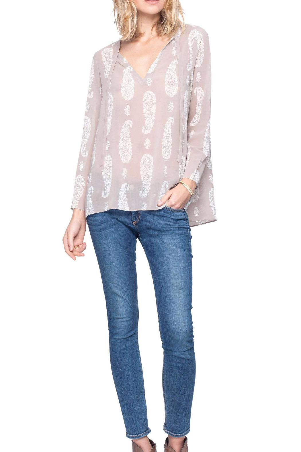 Gentle Fawn Paisley Print Top - Front Full Image