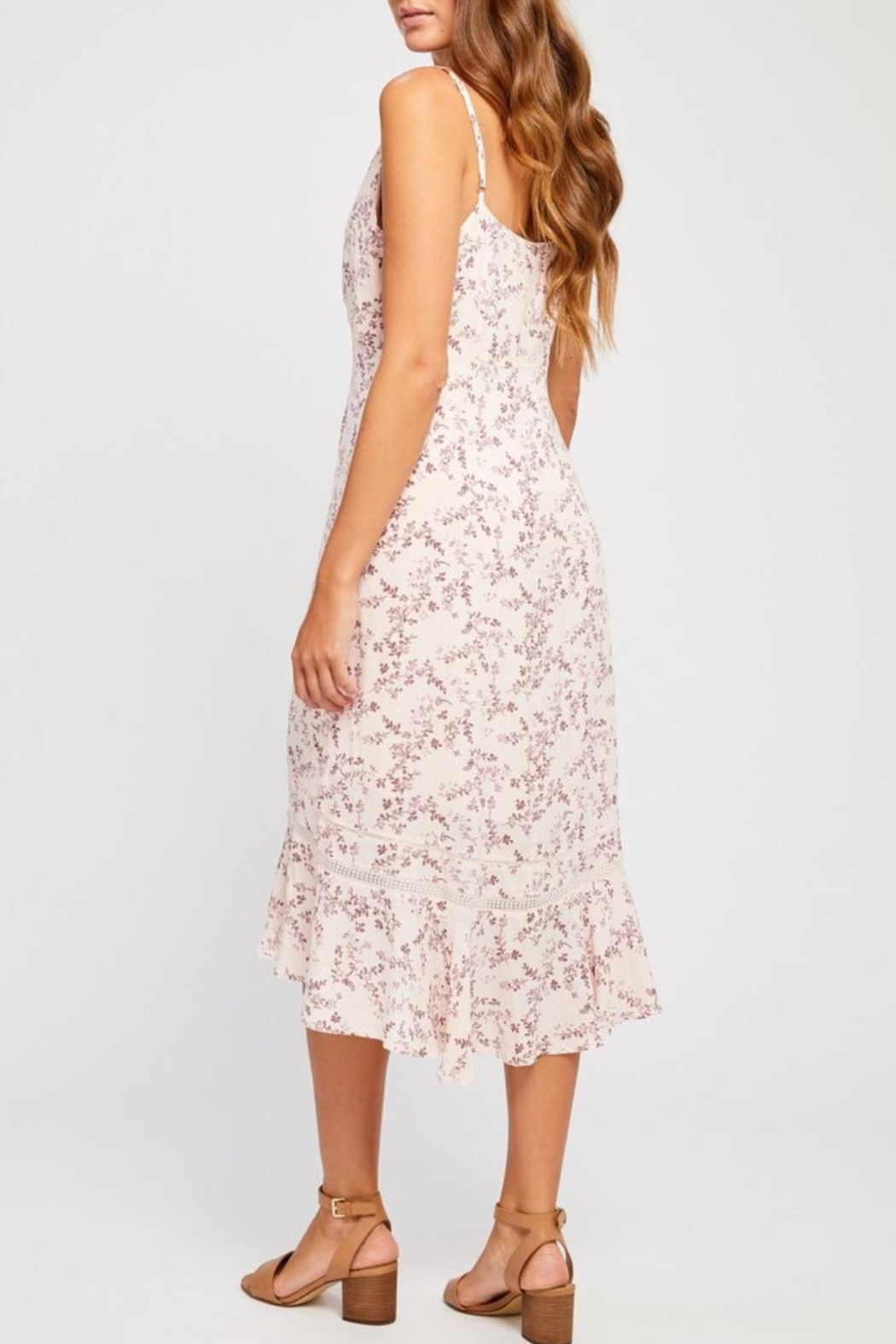 Gentle Fawn Pink Floral Dress - Side Cropped Image