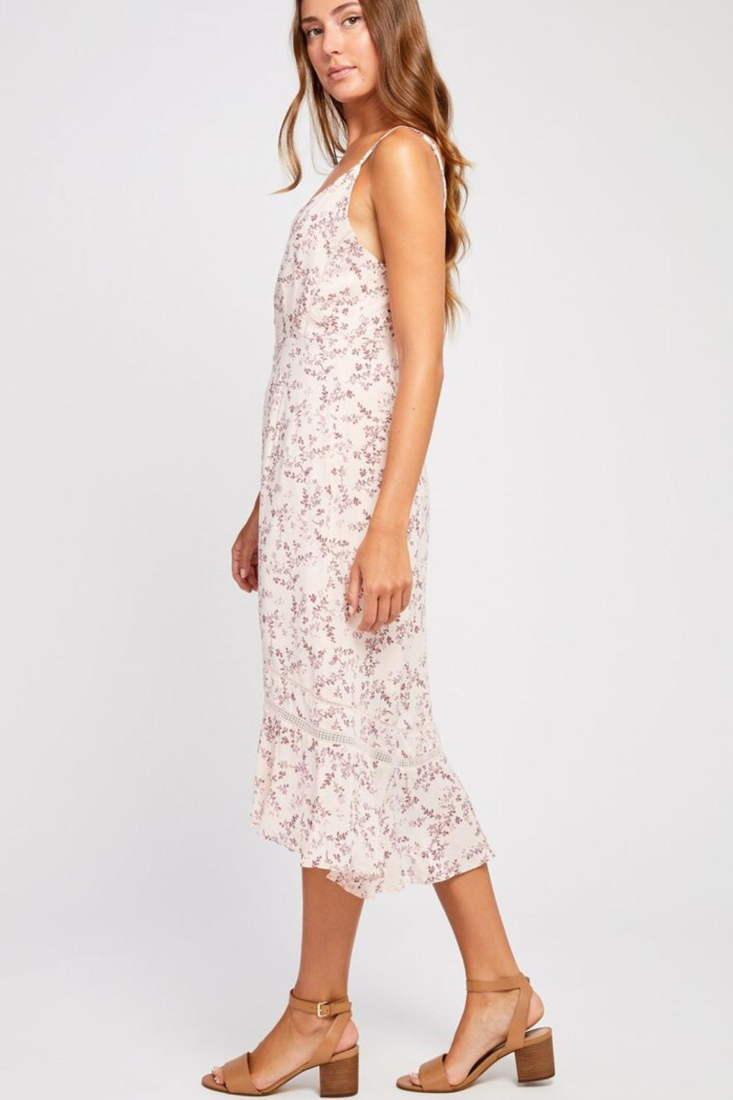 Gentle Fawn Pink Floral Dress - Front Full Image
