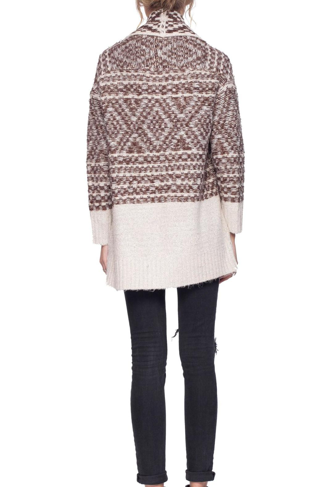 Gentle Fawn Printed Dolly Cardigan - Back Cropped Image