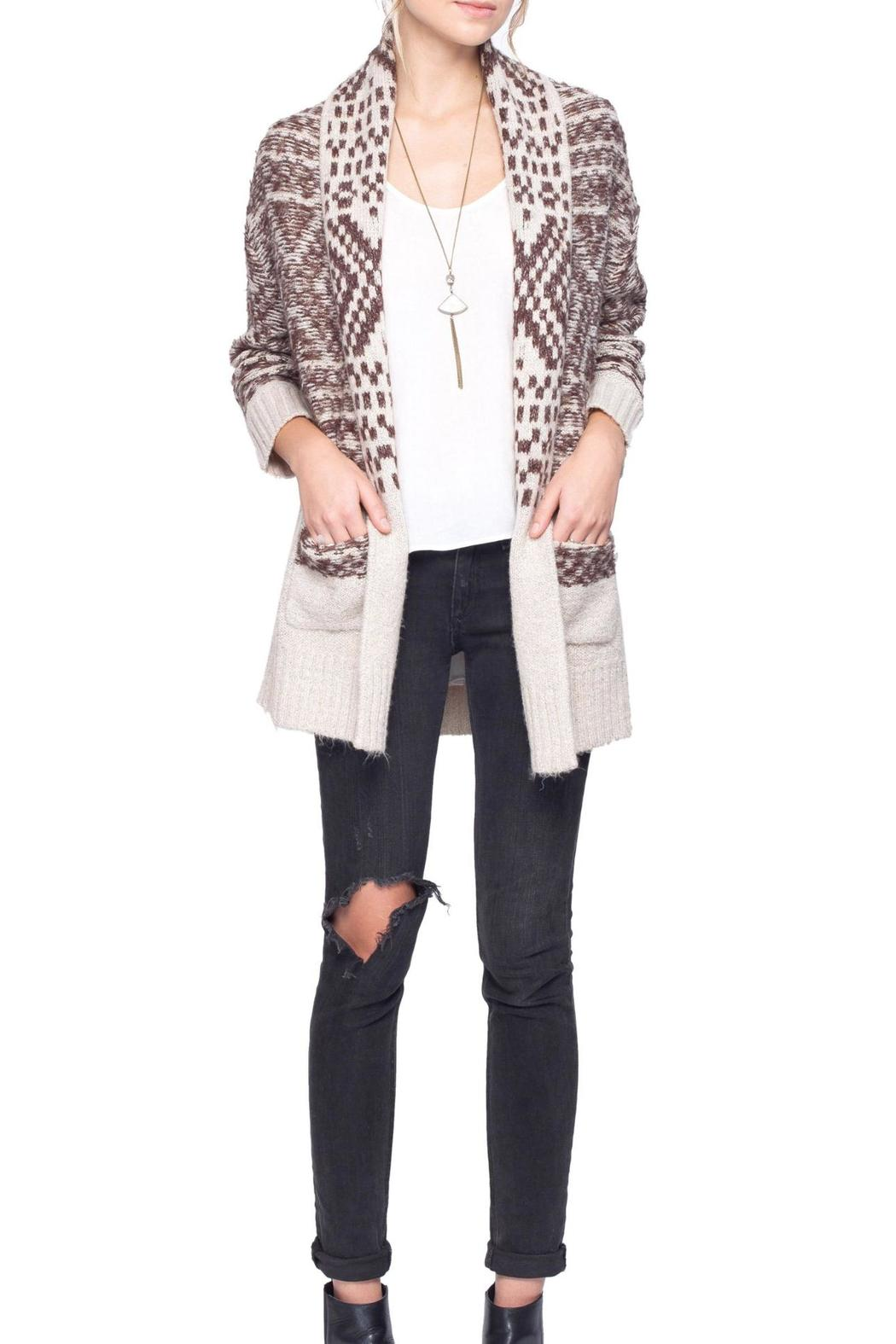 Gentle Fawn Printed Dolly Cardigan - Front Full Image
