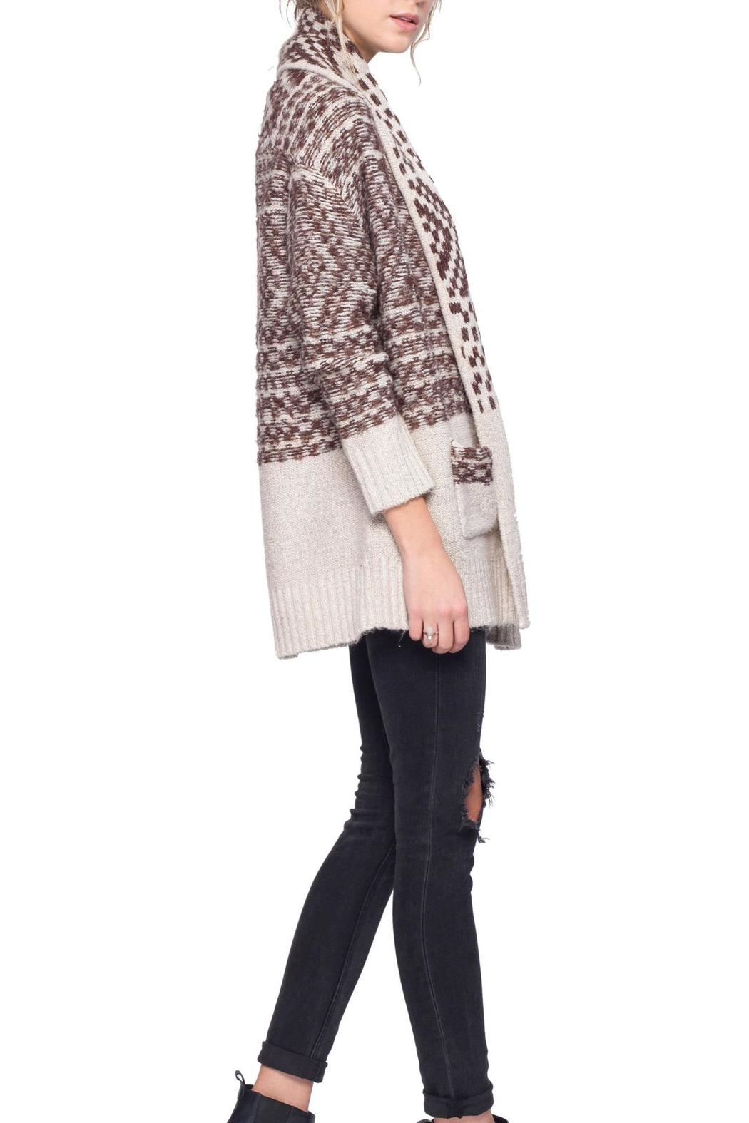 Gentle Fawn Printed Dolly Cardigan - Side Cropped Image