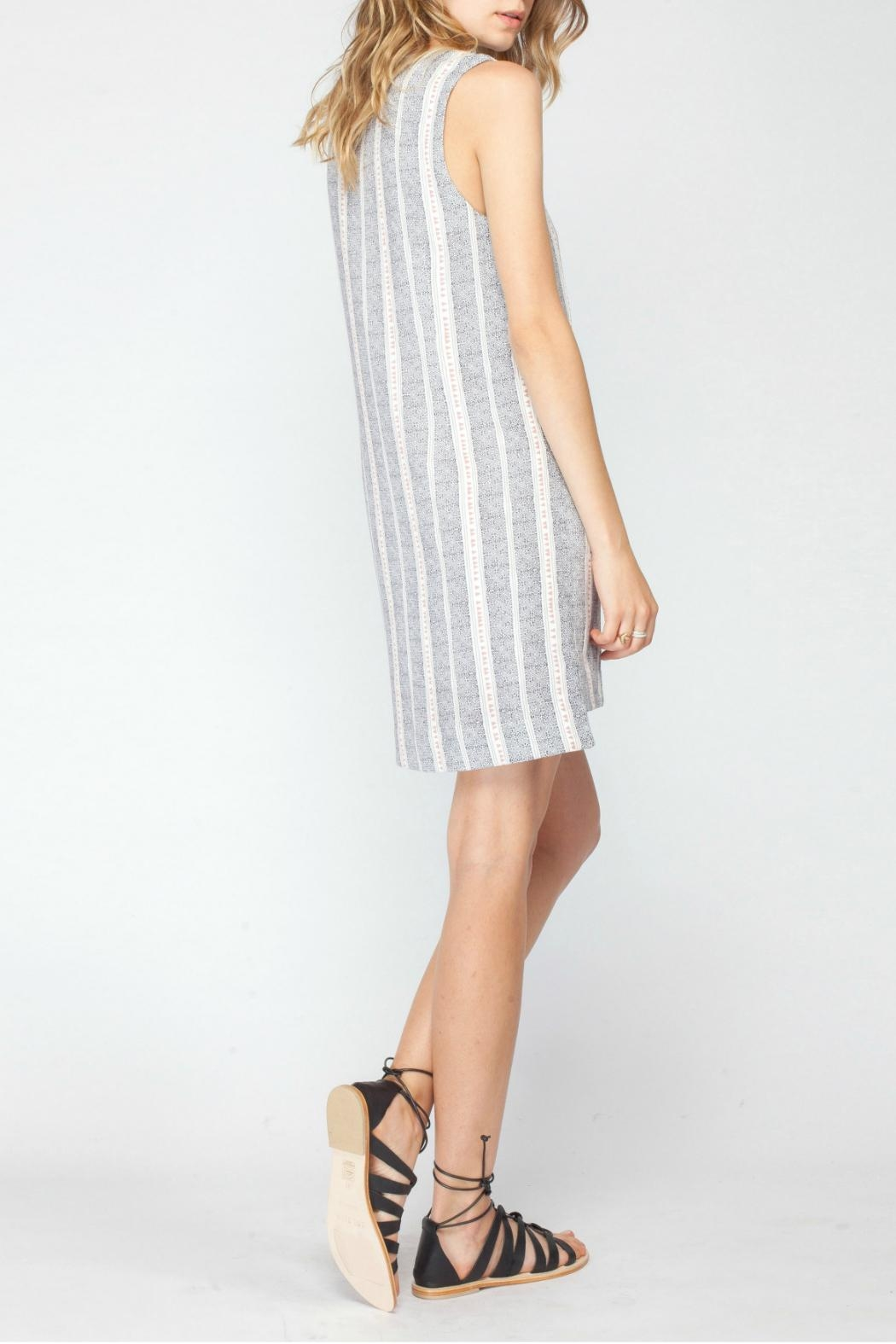 Gentle Fawn Printed Shift Dress - Back Cropped Image