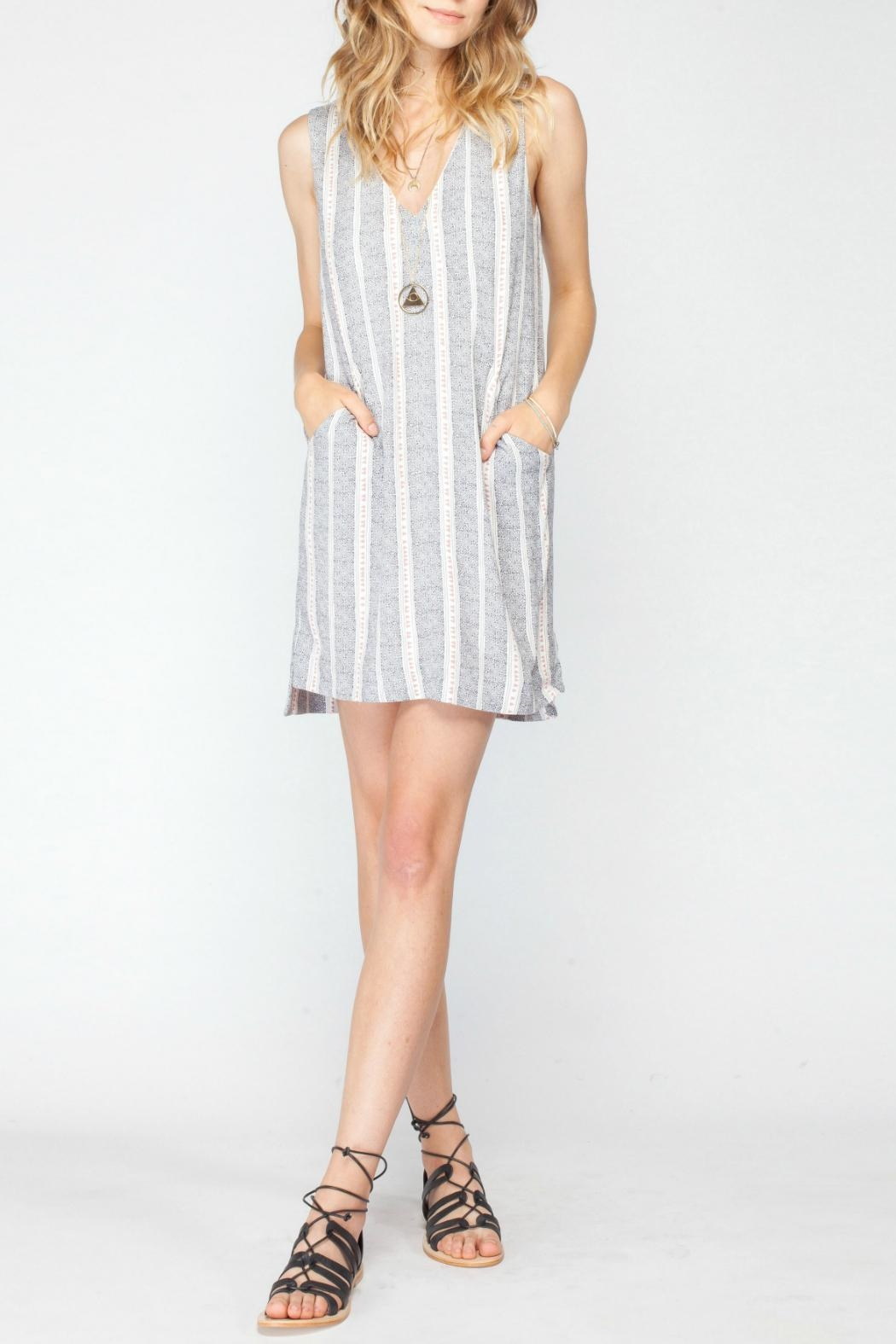 Gentle Fawn Printed Shift Dress - Front Full Image