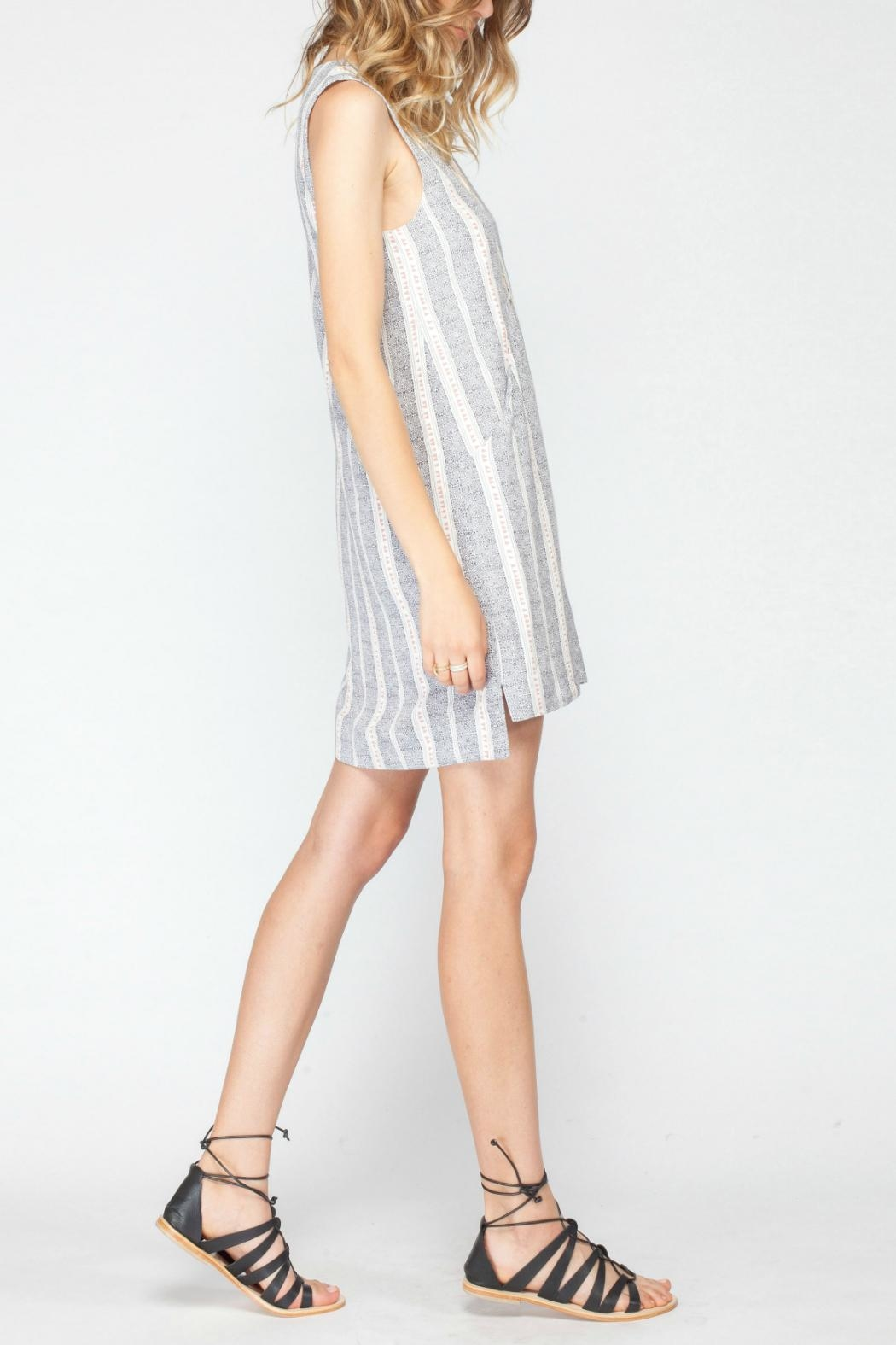 Gentle Fawn Printed Shift Dress - Side Cropped Image